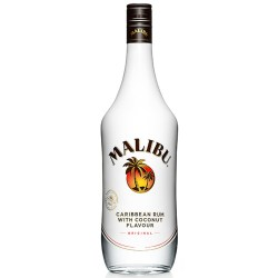 Contemporary new look to the Malibu bottle