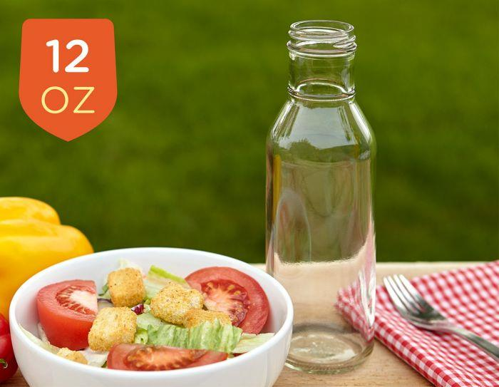 12oz Glass Ring Neck Sauce Bottles in Cases